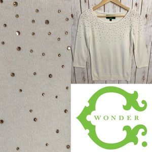 (NWOT) C. WONDER cashmere blend holiday sweater